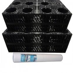 Stormcrate 1m x 1m x 400 (2 Crates/Membrane/Tape)