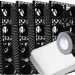 Stormcrate 1m x 1m x 400 (6 Crates/Membrane/Tape)