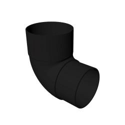 Round 90 degree Offset Bend BLACK