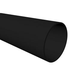 Round Downpipe 4m BLACK